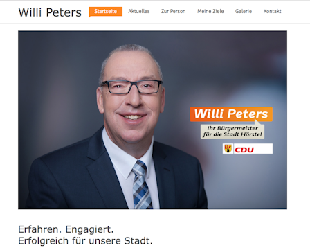 Bürgermeisterkandidat Willi Peters